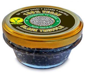100% végétal alternative au tobiko, au goût de truffe noire